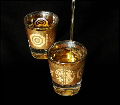 Whisky in interesting glasses